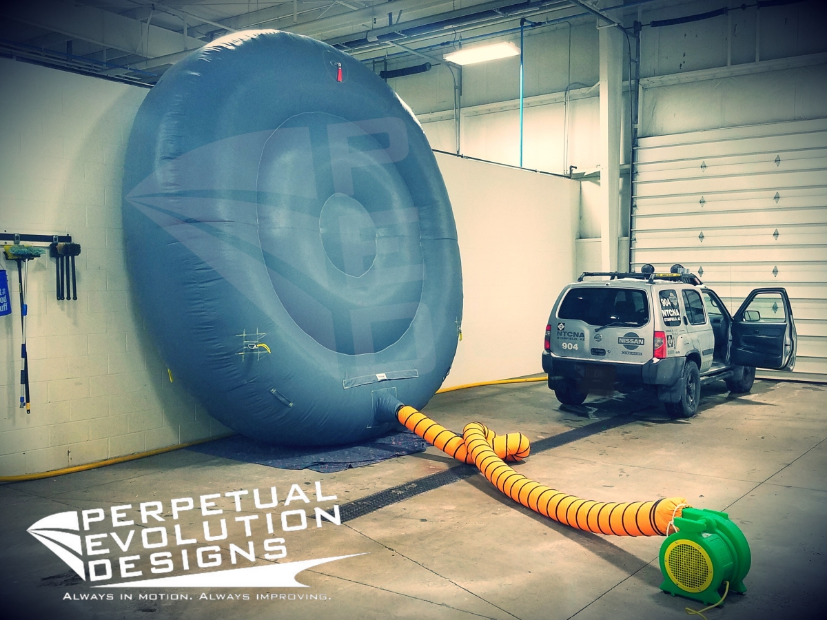 High Temp Duct Plug balloon built for First Energy